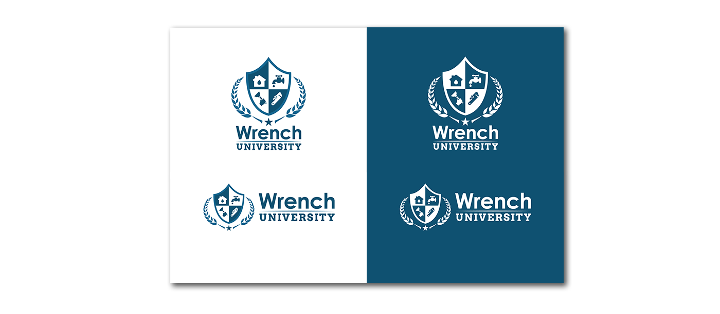 Example of logo created for Wrench University